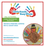 FALL:Turkeys, Color Brown & Square Shape Weekly Thematic Unit for Toddlers &PreK