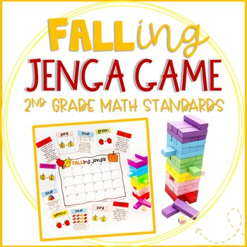 """""""FALLing Jenga"""" Autumn Themed Game Cards for Math Review and Practice"""