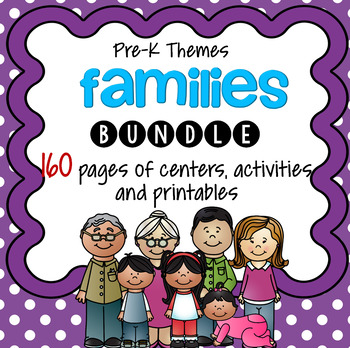 FAMILIES Centers and Activities for Preschool and Pre-K BUNDLE
