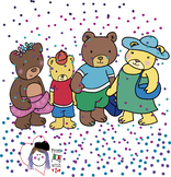 FAMILY BEAR CLIPART-4 CLIPART BW/COLOUR-FREE