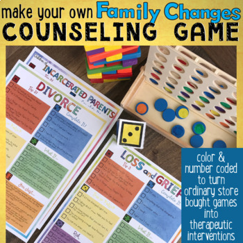 FAMILY CHANGES School Counseling Game: Divorce, Incarceration, Grief & Loss