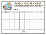 FAMILY CHORE CHART (Fillable)