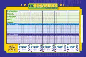 Organizer printable, FAMILY CHORES ORGANIZER