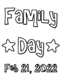 FAMILY DAY ACTIVITIES, BUNDLE 16 PAGES, FAMILY DAY 2018, F