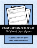 FAMILY DESIGN CHALLENGE: Task Cards & Graphic Organizer
