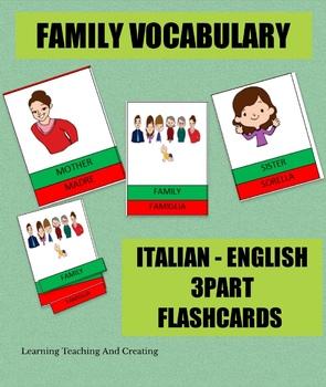 FAMILY FLASHCARDS - LA FAMIGLIA FLASHCARDS