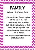 FAMILY Freebie Letters (Editable )