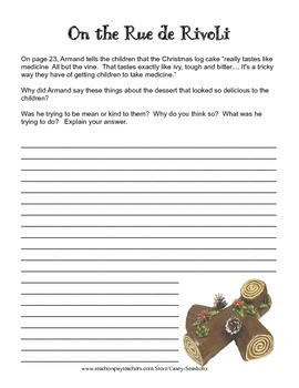 The Family Under the Bridge ...TRIAL: Ch 1-3 Printables, Test, Activities, Vocab