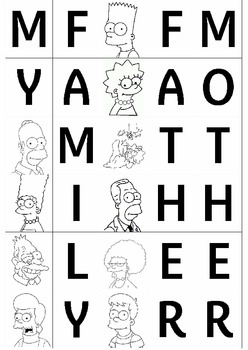 FAMILY members game - letters to make a word