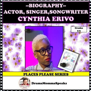 FAMOUS ARTIST: CYNTHIA ERIVO ACTRESS/SINGER/SONGWRITER 1 PAGER DISTANCE LEARNING