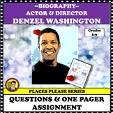 FAMOUS AMERICAN ARTIST: ACTOR & DIRECTOR DENZEL WASHINGTON, ONE PAGER
