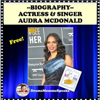 FAMOUS AMERICAN ACTRESS & SINGER AUDRA MCDONALD ONE PAGER ASSIGNMENT