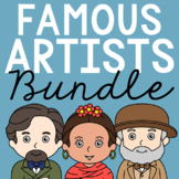 FAMOUS ARTISTS Biography Coloring Pages and Research Projects BUNDLE