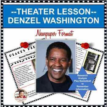 FAMOUS AMERICAN ARTISTS:  DENZEL WASHINGTON DISTANCE LEARNING