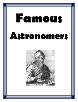 FAMOUS ASTRONOMERS PROJECT