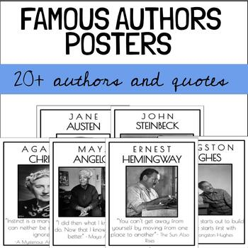 FAMOUS AUTHORS POSTERS