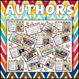 FAMOUS AUTHORS POSTERS KEY STAGE 1-3 AGE 4 - 13