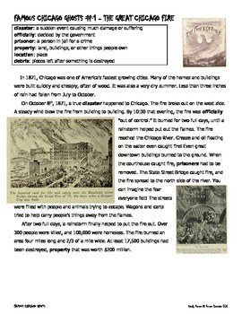 FAMOUS CHICAGO GHOSTS - SNEAKING IN READING & HISTORY INFORMATIONAL TEXT