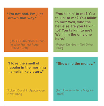 FAMOUS FILM QUOTES POSTER
