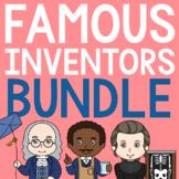FAMOUS INVENTORS Biography Coloring Pages and Research Projects BUNDLE