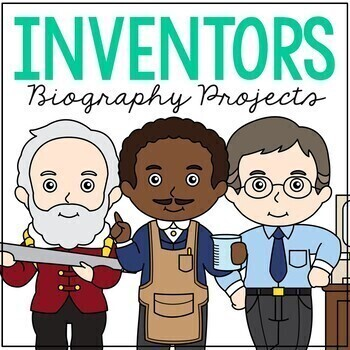 FAMOUS INVENTORS Biography Coloring Pages and Research Projects