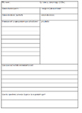 NONFICTION AUTHOR BIOGRAPHY RESEARCH TEMPLATE FRENCH Graphic Organizer + RUBRIC