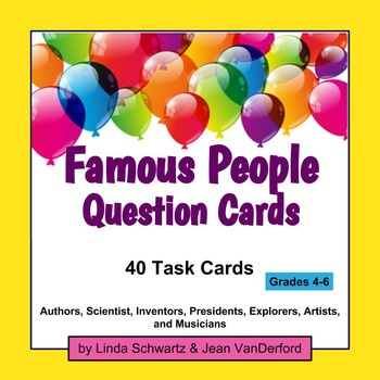FAMOUS PEOPLE QUESTION CARDS