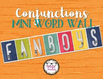 FANBOYS Conjunctions Mini Word Wall Grammar Display
