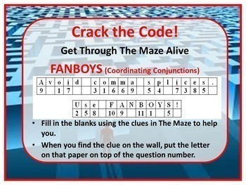 FANBOYS (Coordinating Conjunctions) Kinesthetic Maze