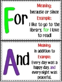 FANBOYS Coordinating Conjunctions Posters