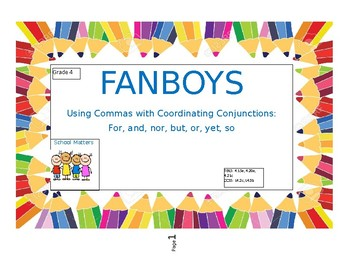 FANBOYS - Using Commas with Coordinating Conjunctions