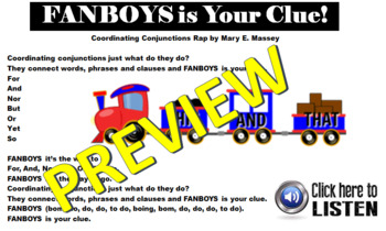 FANBOYS is Your Clue Rap and Words (Coordinating Conjunctions)