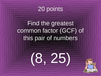 FANTASTIC FRACTIONS Game Show