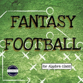 EQUATIONS and EXPRESSIONS -  FANTASY FOOTBALL