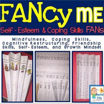 FANcy Me: NO PREP Paper Fans Activity for Self-Esteem Groups