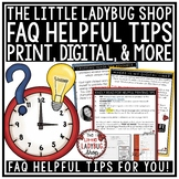 FAQ- The Little Ladybug Shop Frequently Asked Questions Help Guide