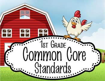"""FARM - 1st Grade Common Core Standards """"I CAN"""" format / posters"""