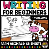 FARM ANIMAL 1ST GRADE 2ND PICTURE WRITING PROMPT SENTENCE STARTER ACTIVITY PAPER