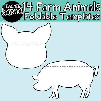 FARM ANIMALS: 14 Foldables, Interactives, Flip Book Templates