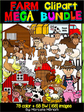 FARM CLIPART- Farm Animals clipart BUNDLE