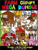 FARM CLIPART- Farm Animals clipart BUNDLE