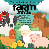 FARM ANIMALS Math Literacy Centers Activities and Printables Preschool 116 pages