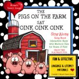 FARM ANIMALS Sing-ALONG  AAC/PECS Early Reader Pre-K Speec
