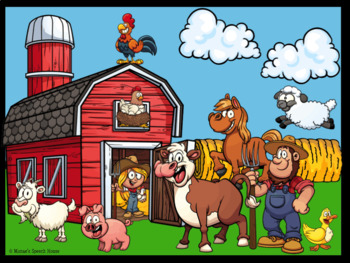 FARM ANIMALS Sing-ALONG  AAC/PECS Early Reader Pre-K Speech Therapy