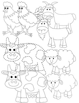 FARM ANIMALS TRACING PICTURES