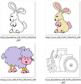 FARM ARTS with MR PUPO {Creative Art clipart} PNG FORMAT