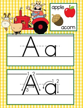 FARM - Alphabet Cards, Handwriting, ABC Flash Cards, ABC p