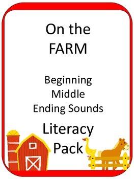 FARM ELA CENTER Phonics GAMES - beginning/middle/ending sounds