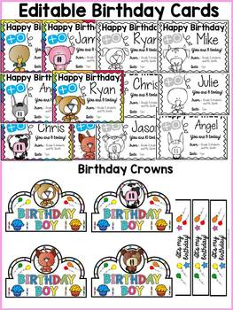 FARM CLASS DECOR: EDITABLE BIRTHDAY PACK