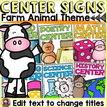 FARM CLASS DECOR: EDITABLE CENTER SIGNS